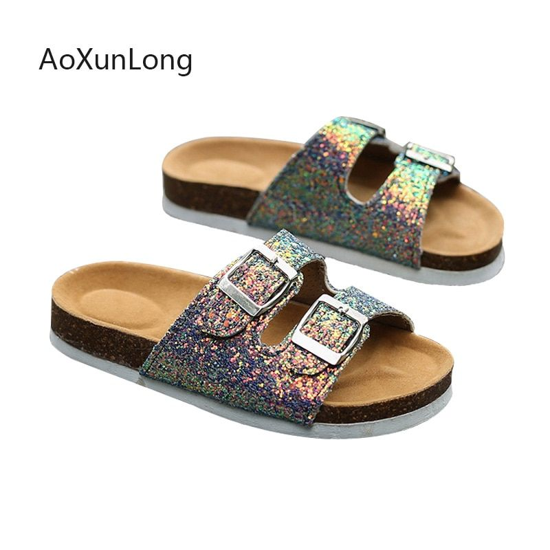 2019 Summer Women's Slippers Fashion Sequins Platform Shoes Ladies Sandals Platform Shoes Home Flip Flops Outdoor Beach Slippers