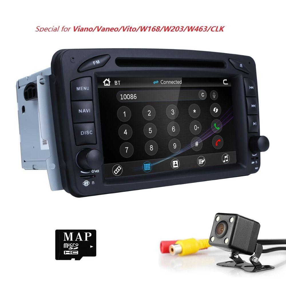 2Din AutoRadio Car DVD Player For Mercedes/Benz/W209/W203/W168/M/ML/W163/W463/Viano/W639/Vito/Vaneo 1998-2006 Audio GPS Navi BT