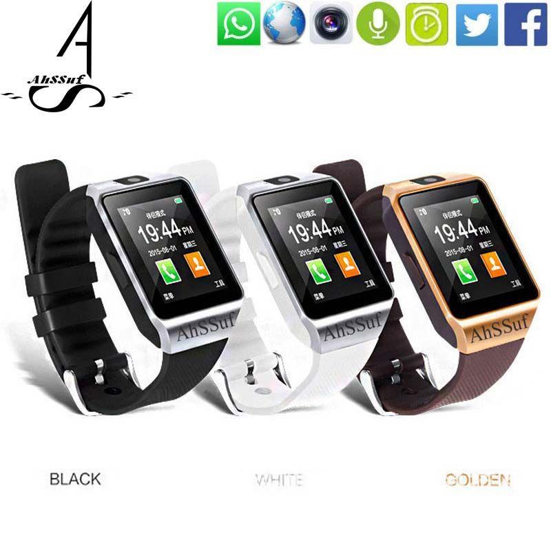 Ahssuf наручные часы сотовый телефон сенсорный SmartWatch sim-карты Оптовые Relogio Celular Android EM португальский потребительских электронных DZ09
