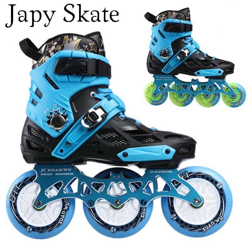 Japy Skate Professionelle Erwachsene Roller Skating Schuhe 4*80 Oder 3*110mm Veränderbar Slalom Geschwindigkeit Patines Freies skating Racing Skates