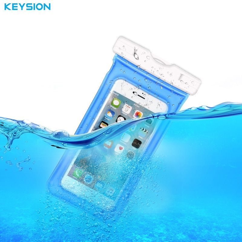 KEYSION Waterproof Bag With Underwater Pouch Phone Case For iPhone X 8 8 Plus 7 6s Sport Arm Band Case For Samsung S8 S7 S7edge