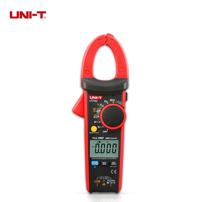 UNI-T UT216C True RMS Digital Clamp Meters Frequency Capacitance Temperature & NCV Test Thermometer