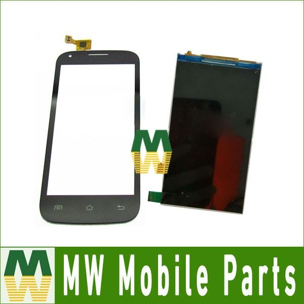 1PC/ Lot For Fly IQ4406 IQ 4406 Seperate Touch Screen Digitizer  Black White And Lcd Display Screen Replacement Part