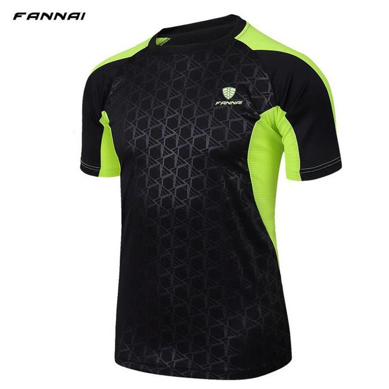 FANNAI marque hommes Tennis sports de plein air o-cou séchage rapide respirant course badminton mâle manches courtes t dessus de chemise t-shirts vêtements