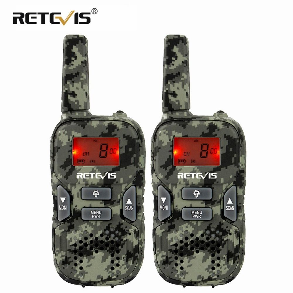 A Pair Mini Walkie Talkie For Kids Retevis RT33 0.5W PMR 446MHz PMR446/FRS Portable 2 Way Radio USB Charging VOX Hf Transceiver