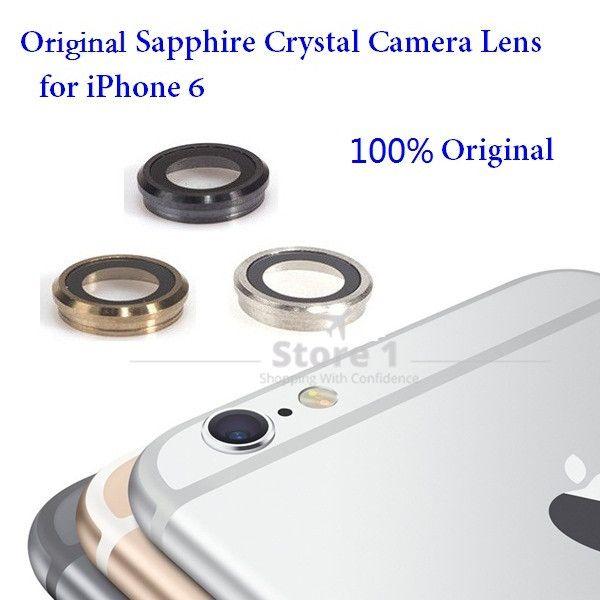 100% Original für Apple iPhone 6 Kamera Objektiv; Saphirglas Zurück Kamera Glaslinse mit Rahmen für iPhone 6 4,7 zoll