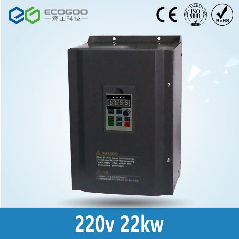Hot! 22KW 30HP 400 HZ VFD Wechselrichter frequenzumrichter einphasig 220 v eingangs 3 phase 380 v ausgang 46A für 25HP motor