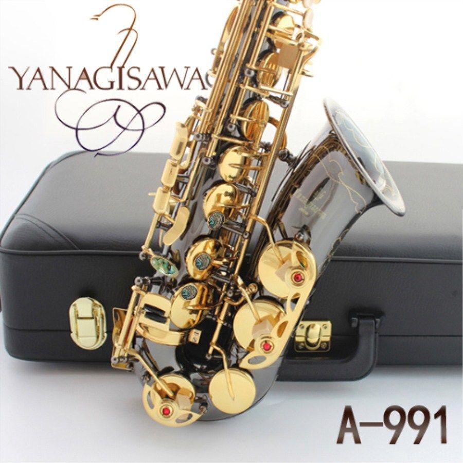 Alto saxophone YANAGISAWA Musical instrument New A-991 Sax E flat Black Nickel Gold Saxophone With Case Professional Free