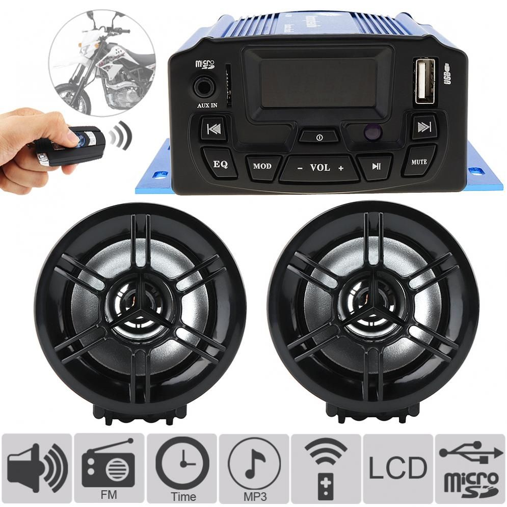 DC12V 25W Motorcycle Anti-theft Audio Sound MP3 Player with Display Screen Anti-theft Motorbike MP3 Audio System