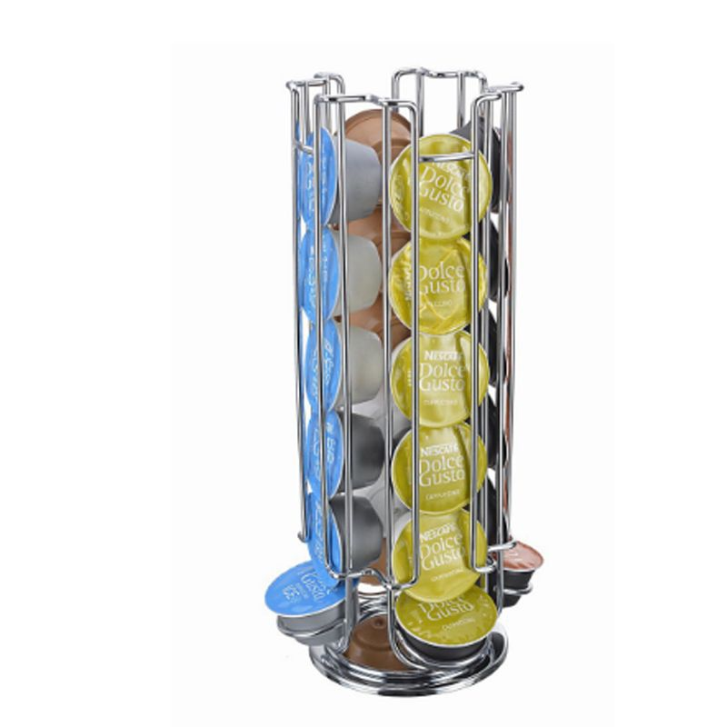 24 Capsules Holder Rack Storage Dolce Gusto Stand Kitchen Table Metal Revolving Shelf Free Shipping Shipments Russian warehouse
