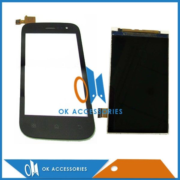 High Quality Black White Color For Fly IQ442 IQ 442 LCD Display With Touch Screen Digitizer 1PC/Lot