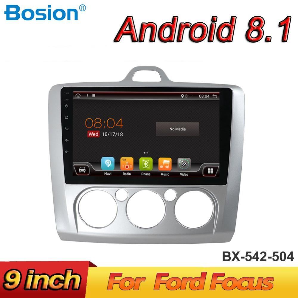 Bosion Android 8.1 Quad Core Auto-Radio-Player GPS Navi Für ford focus 2004-2010 2 3 Mk2/Mk3 kopf einheit Rückansicht Kamera