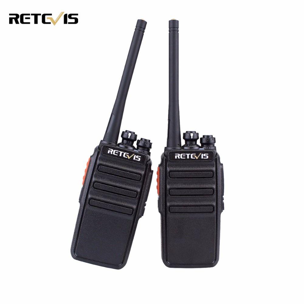 2 pcs Retevis RT24 Talkie-walkie PMR446 UHF 0.5 w Sans Permis VOX Scan Brouilleur Radioamateur Émetteur-Récepteur Hf