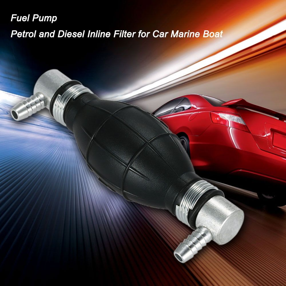 Fuel Bulb Hand Pump Petrol and Diesel Inline Filter for Car Marine Boat