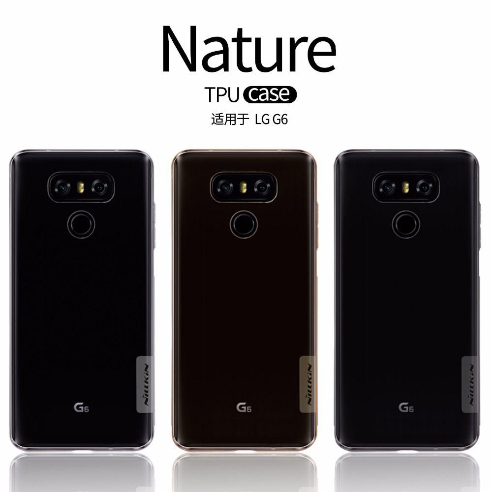 Nillkin Ультра тонкий прозрачный Nature TPU чехол для LG G6 G5 ясно ТПУ Мягкая задняя крышка для LG G6 g 6 с розничной упаковке