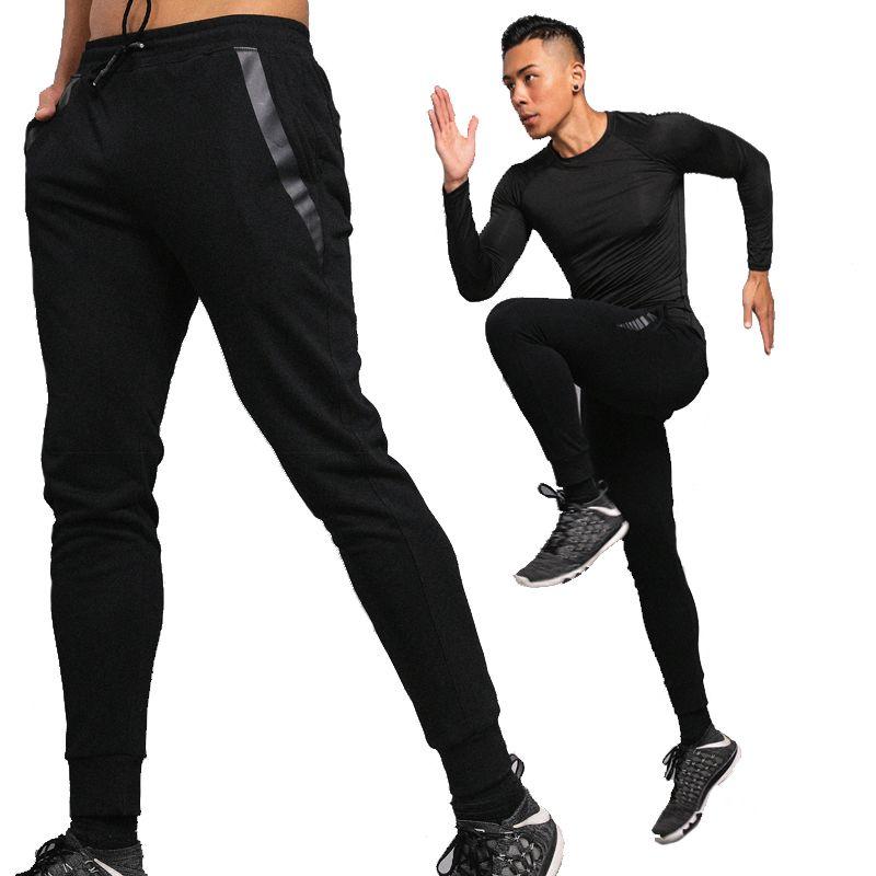 Hombres Corriendo Pantalones Largos Para Hombre Flaco Pantalón de Entrenamiento Gimnasio Deportes Basculador Pantalones de Entrenamiento de Fútbol Pantalones de Fitness Hombres Leggings
