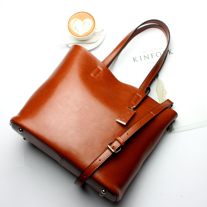 Top selling Women Handbag Genuine Leather Bucket Casual Bag Ladies Luxury Shoulder Bags Female Eight Candy Colors neverfull bag