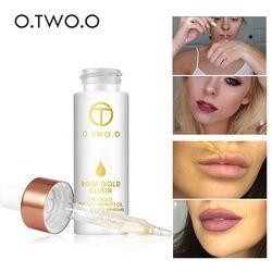 O.TWO.O 24k, розовое золото, элексир, уход за кожей, макияж, эфирное масло, отбеливающее уважняющее масло для лица, против старения, для всех видом ...