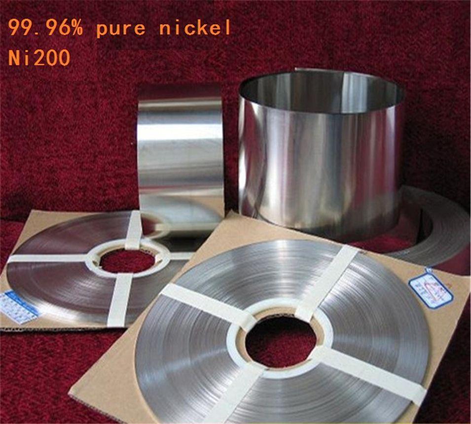 1 kg 0,15mm * 25mm Reinem Nickel Platte Band Streifen Blätter 99.96% reinem nickel für batterieelektrode elektrode Punktschweißmaschine
