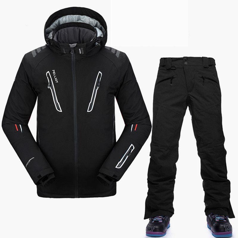 Pelliot-30 Grad Snowboarden Anzüge Männer Top Qualität Winter Ski Anzug Atmungsaktive Wasserdichte Marke Ski Jacke Snowboard Hose S-XL