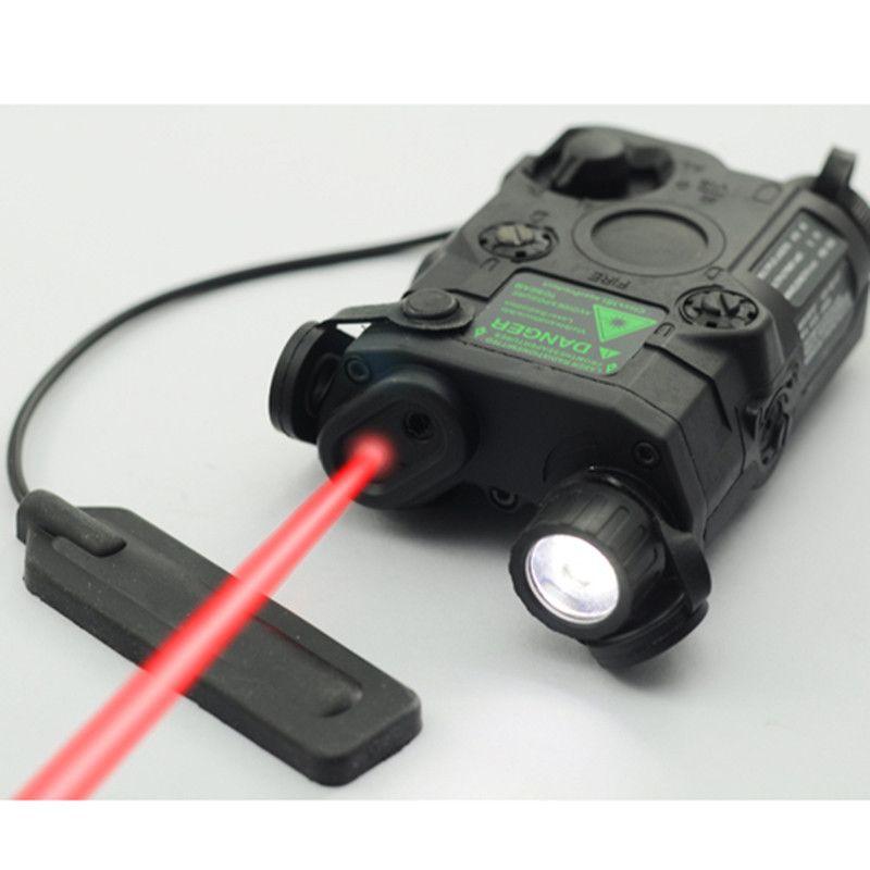 AN/PEQ-15 Red Dot Laser White LED Flashlight 270 Lumens for Standard 20mm rail Night Vision Hunting Rifle Battery Case Element