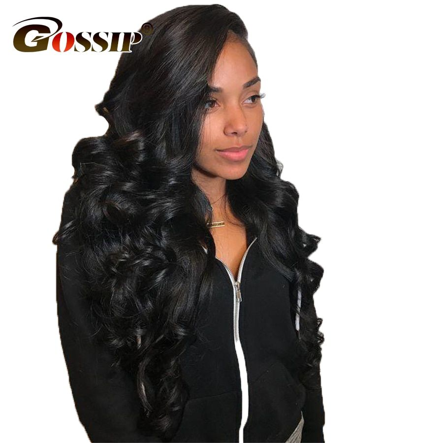 150 Brazilian Body Wave Lace Front Human Hair Wigs For Black Women Gossip Lace Front Wig With Baby Hair Remy Human Hair Wigs