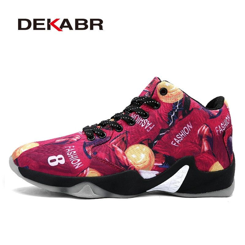 DEKABR Men Basketball Shoes Air Damping Men Anti-Skid Sports High Top Basketball Sport Sneakers Breathable Men Outdoor Shoes