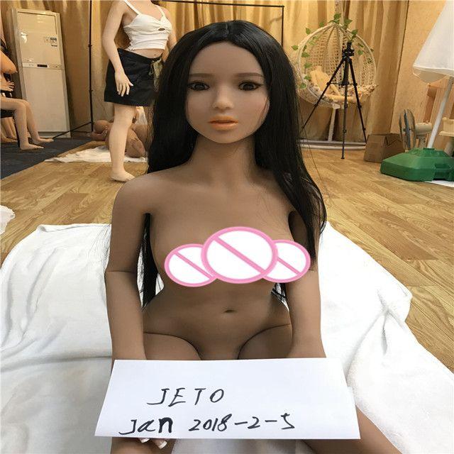 140cm sex puppen TAN Farbe Haut echt sex puppe, volle größe silikon liebe puppe, oral vagina pussy anal erwachsene puppe