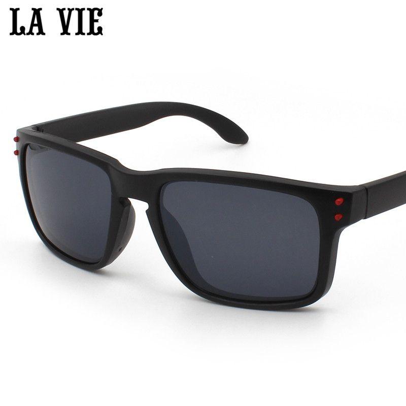 LA VIE Men Driving Sunglasses Mirror Black Super Light Eyewear Male Sun Glasses UV400 oculos de sol feminino LV0709