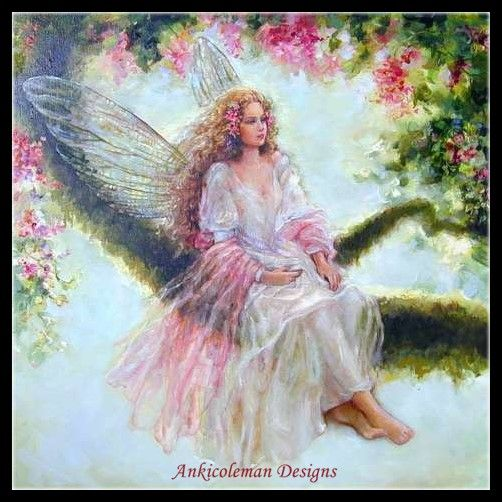 Embroidery Counted Cross Stitch Kits Needlework - Crafts 14 ct DMC color DIY Arts Handmade Decor - Spring Tree Fairy