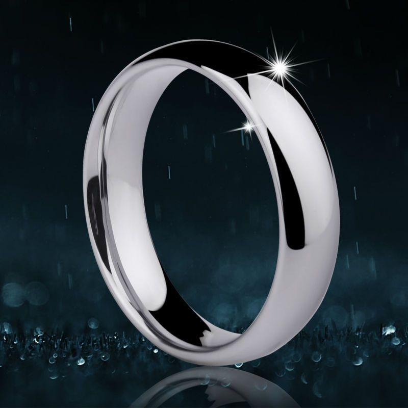 Personnaliser 1 pièces anneaux de tungstène Design classique pour Couples anneaux de mariage bande dôme 3.5mm/5mm largeur taille 4-14 avec gravure gratuite