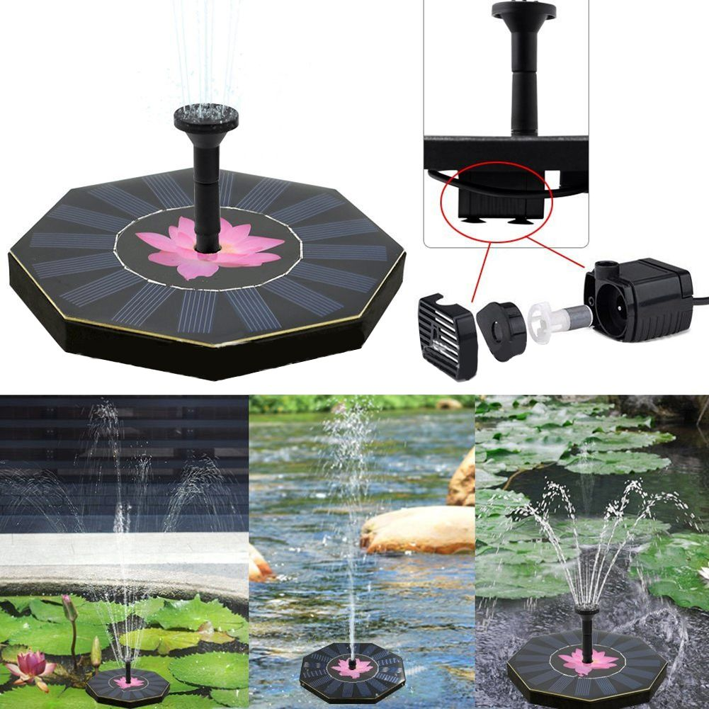 200L/H Floating Solar <font><b>Power</b></font> Fountain Panel Kit Garden Water Pump for Birdbath Pool Watering Wide Irrigation Pumps 8V 1.0W