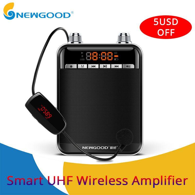 Smart Wireless Tragbare Verstärker Stimme Lautsprecher Mit UHF Wireless Mikrofon Megaphon Für Teaching Tour Guide Yoga
