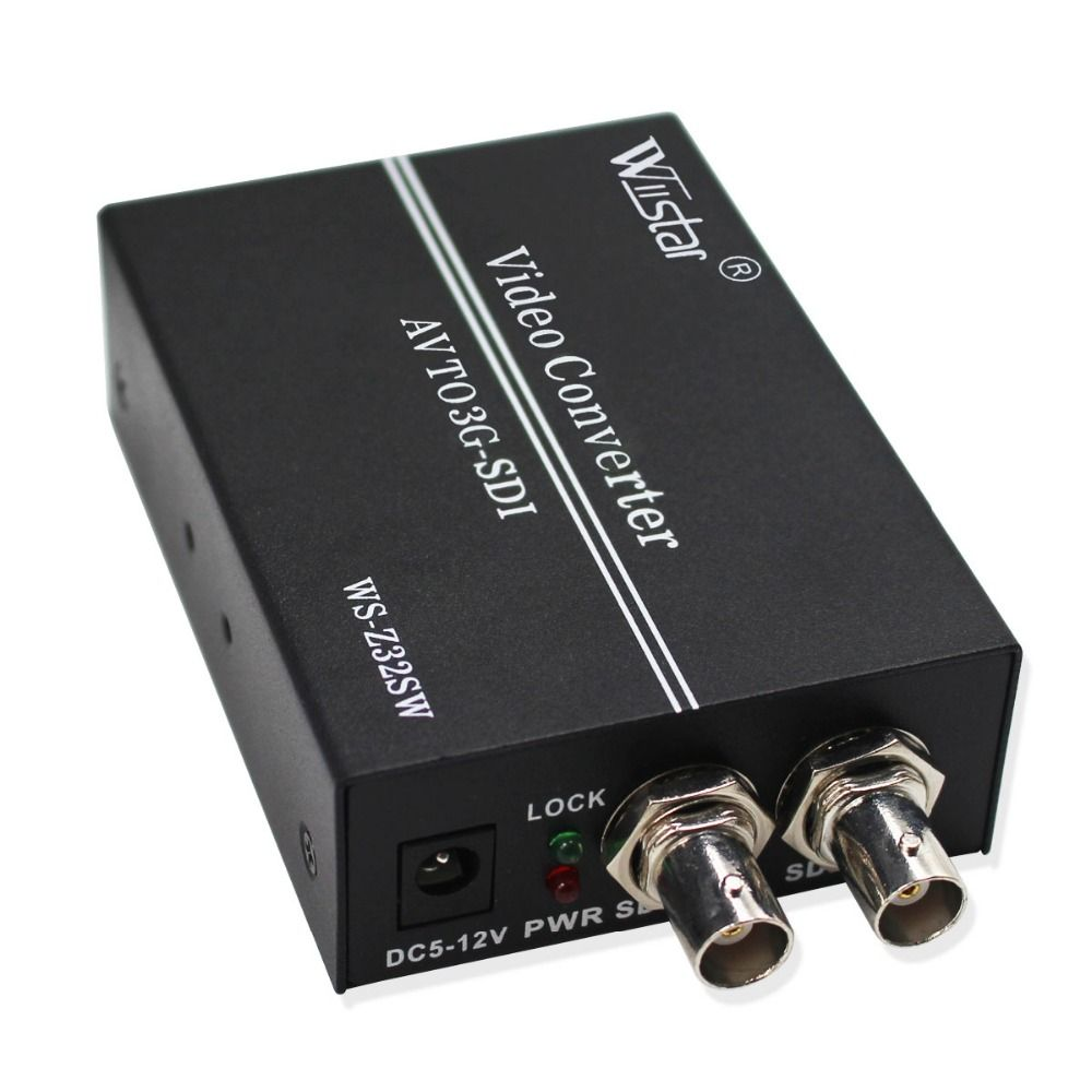 Wiistar AV to SDI Converter SD HD 3G SDI RCA to SDI BNC Audio Video Adapter for HDTV Monitor