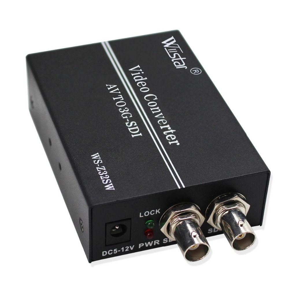 Wiistar AV zu SDI Konverter SD HD 3G SDI RCA zu SDI BNC Audio Video Adapter für HDTV Monitor