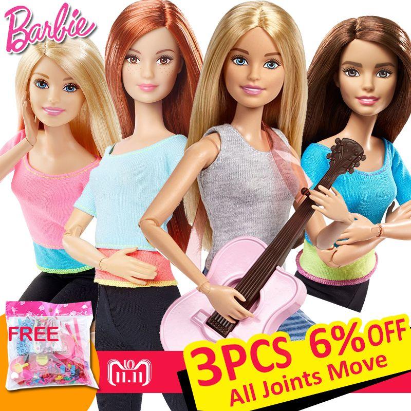 Original Barbie Marque American Girl Poupées 6 Style De Yoga Gymnas Mouvement Des Articulations Jouets Pour Enfants La Fille Un Cadeau D'anniversaire bonecas