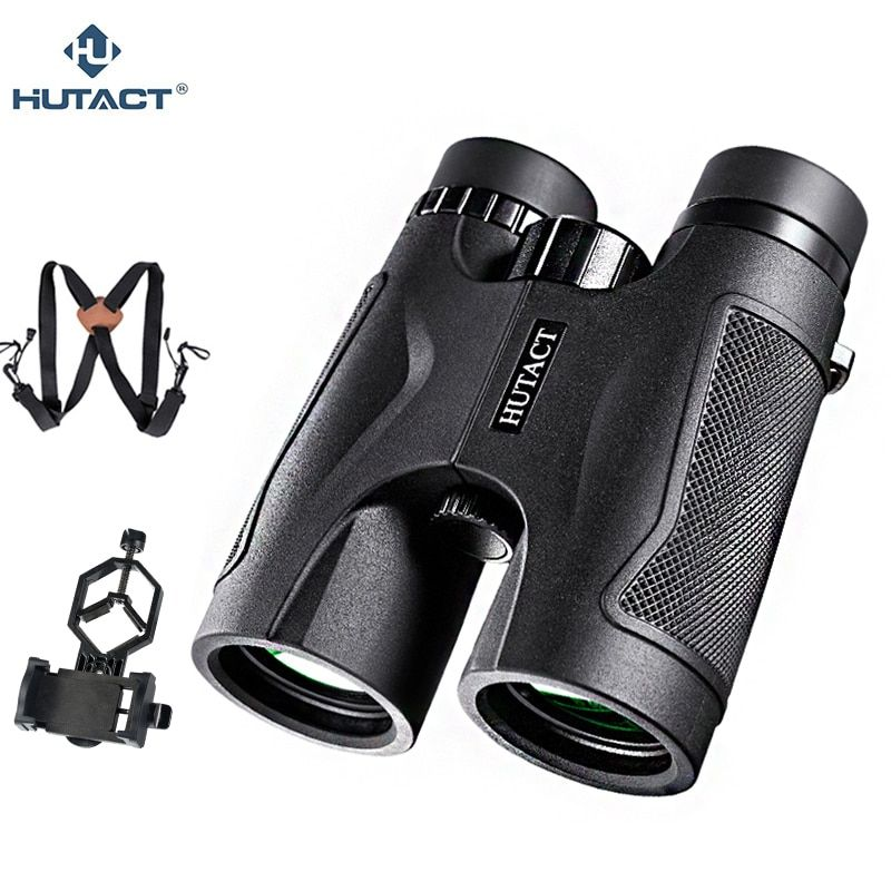 HUTACT 10x42 Fernglas Für Jagd Professionelle Teleskop Handheld Binoculo Telescopio Optische Handliche Vogel Beobachten Telefon Adapter