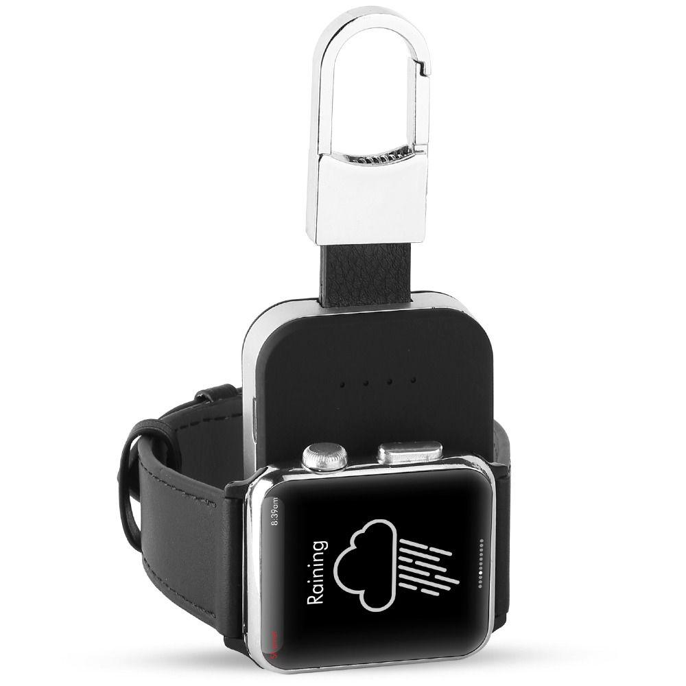 950 mah batterie externe batterie externe Pack QI Sans Fil Chargeur pour Apple Montre 1 2 3 4 Série Portable En Plein Air mini chargeur