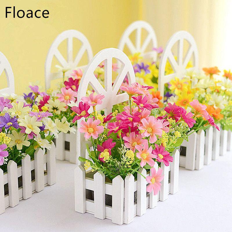 Kit de clôture murale Floace pastorale fleurs artificielles fleurs de soie salon chambre décor
