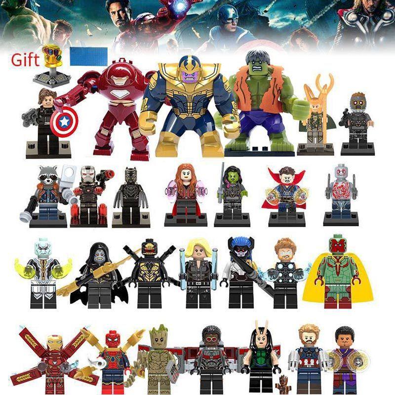 Blocs de construction Super Héros lEGOED Marvel Avengers Infinity Guerre Thanos Hulk Iron Man Spiderman enfants jouets pour enfants