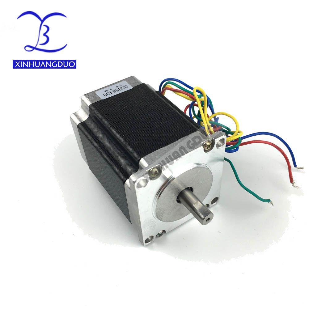 Nema 23 Stepper Motor 2 phase 4-Leads 270 Oz-in/180Ncm 76mm CNC 3D Printer 23HS8430 1.8deg Free shipping XINHUANGDUO