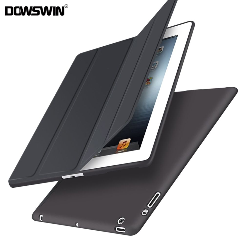 For Apple ipad 2 3 4 Case Auto Sleep /Wake Up Flip  PU Leather Cover  For New ipad 2 ipad 4 Smart Stand Holder Coque Case
