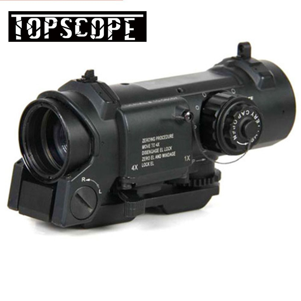 1x-4x Dual Rolle Optic Zielfernrohr Airsoft Umfang Magnificate 4x32 Umfang Fit 20mm Weber Picatinny schiene Für Jagd