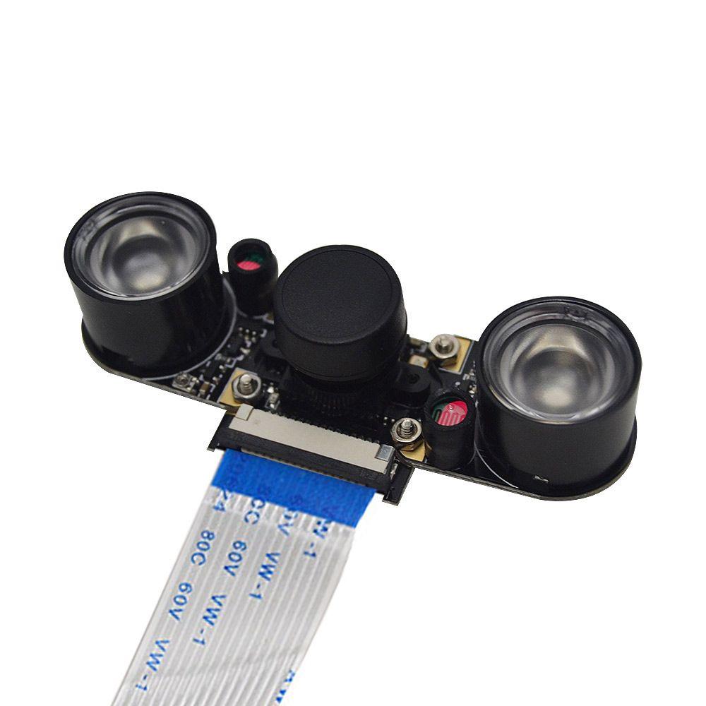 Raspberry Pi 3 Vision nocturne Fisheye caméra 5MP OV5647 130 degrés focale réglable caméra pour Raspberry Pi 3 modèle B Plus