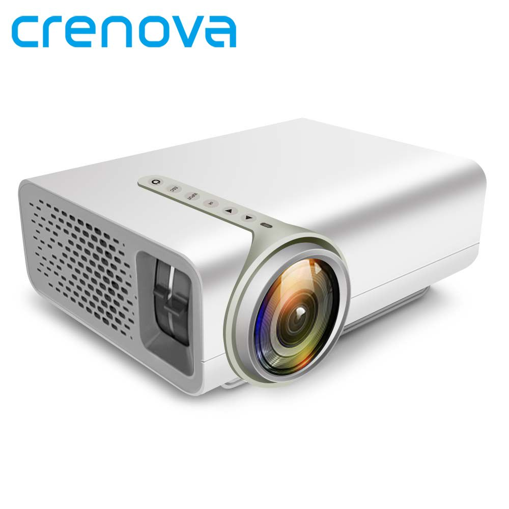 CRENOVA LED Projector For Full HD 1920*1080P For Home Theater Projectors Proyector Connection Smart Phone Via USB Data cable