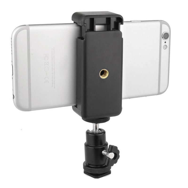 360 Kugelkopf Blitzschuhadapter Montieren + Telefon Clip Halter für Nikon DSLR SLR Kamera P0.16