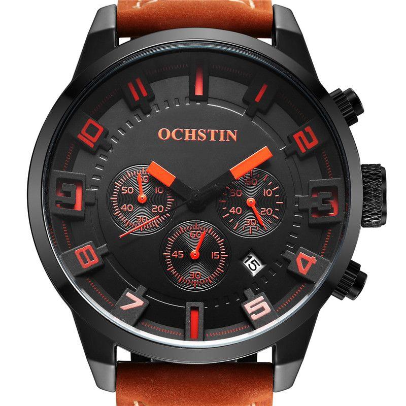 OCHSTIN Men's Watch Quartz Sports Watches Men 3D Face Clock Military Army Hodinky Waterproof Wrist Watch Male Relogio Masculino