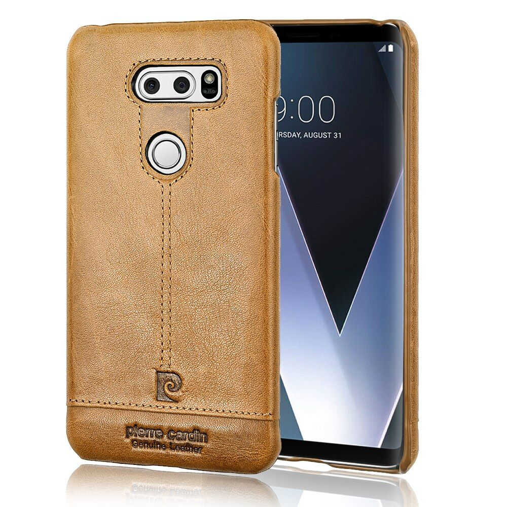 Original Pierre Cardin Genuine Leather Cases Luxury Brand Back Case For LG V30 Ultra Thin Hard Cover Case For LG V30 Coque