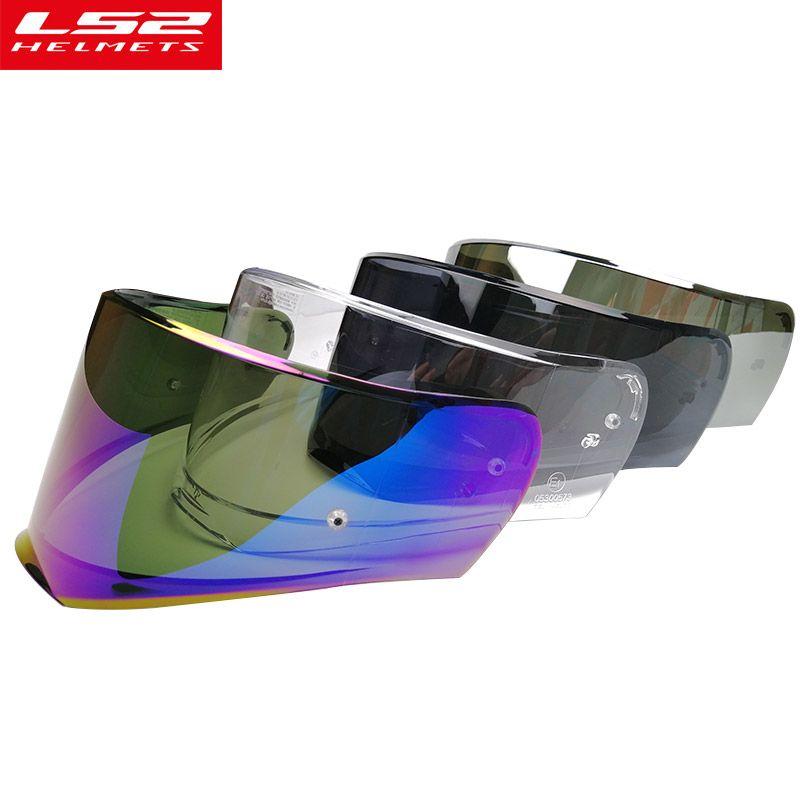 New LS2 FF390 full face motorcycle helmet visor replacement moto helmet shield with pinlock hole original LS2 helmet lens