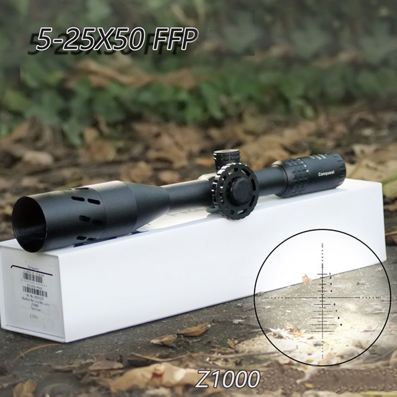 Carl Zeiss Conquest Z1000 5-25X50 FFP Hunting Scopes First Focal Plane Reticle Tactical Riflescope With Red/Green Illuminated